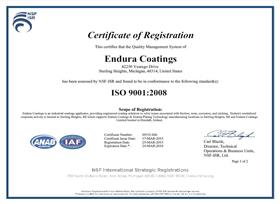 ISO Certified Coatings